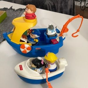 Vintage FISHER PRICE bath toys